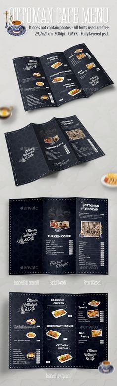 Ottoman Cafe Menu Template PSD. Download here: https://graphicriver.net/item/ottoman-cafe-menu-template/17345576?ref=ksioks