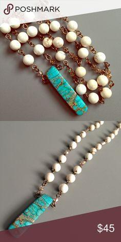 Selling this HOST PICK! Handmade Imperial jasper & howlite necklace on Poshmark! Shop my closet!