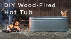 Do-It-Yourself Wood-Fired Hot Tub