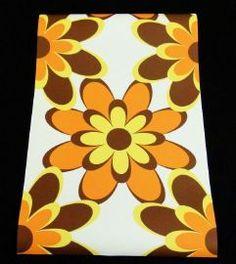 behang 10 meter lang 53 cm breed retro bloemen behang patroon 64 cm kleur oranje bruin wit