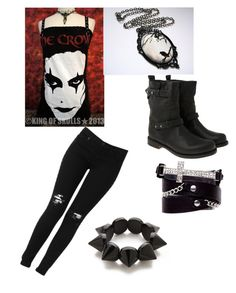 """""""Watching the crow with my best friend Savanah"""" by emolover323 ❤ liked on Polyvore"""