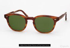 5b4f3d2687 Garrett Leight Warren Sunglasses - Matte Honey Amber Tortoise