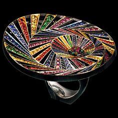 Jewellery Theatre, Kaleidoscope collection, ring, diamonds, sapphires, spinels, rubies, tsavorites.