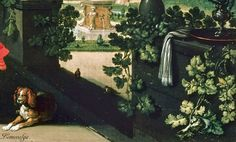 Esaias van de Velde (1587-1630,Dutch) Happy society on a garden terrace (detail),oil on canvas Gemäldegalerie,Berlin.