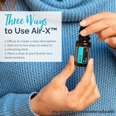 Looking for something new to diffuse? Say hello to Air-X ™! Try Air-X™ to promote clarity and openness.