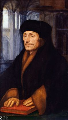 Hans Holbein the Younger. Erasmus, 1523.