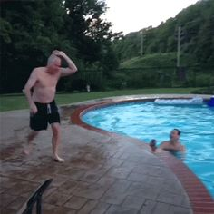 This one-handed cartwheel dive into the pool. | 44 Ideas That Completely Backfired