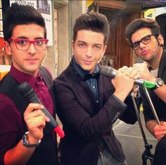 Piero: Intelligent look. Gianluca: Sexy look. Ignazio: Funny look. They are the complete package! :D