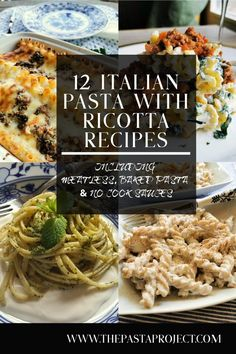 pasta with ricotta is a traditional Italian food pairing that is used in many delicious recipes. Here are 12 authentic Italian pasta with ricotta recipes that will inspire you to try out some of the ways Italians use these two ingredients together. Italian Pasta Recipes, Yummy Pasta Recipes, Best Italian Recipes, Delicious Recipes, Vegetarian Recipes, Dinner Recipes, Healthy Recipes, Noodle Recipes, Rice Recipes