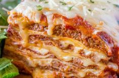 Ultimate Meat Lasagna With Four Cheeses, A Homemade Marinara Sauce And A Few Quick Chef Tricks Will Make You Feel Like You've Ordered Lasagna At Your Favorite Italian Restaurant. his easy lasagna recipe is one I've been Lasagna No Meat Recipe, Lasagna Recipe With Ricotta, Meat Lasagna, Chicken Lasagna, Italian Lasagna, Skillet Lasagna, Lasagna Casserole, Lasagne Recipes, Lasagna Noodles