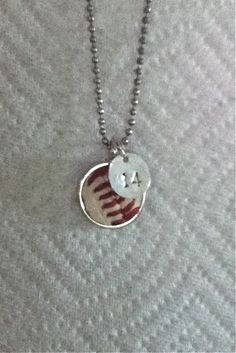 Baseball Necklace by TwentyandBelow on Etsy