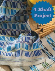 Get Handwoven's top towel weaving projects in one collection, right here! Includes this 4-shaft monk's belt pattern.