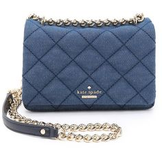 Kate Spade New York Mini Vienna Cross Body Bag (5 230 UAH) ❤ liked on Polyvore featuring bags, handbags, shoulder bags, classic wash, kate spade crossbody, mini crossbody, crossbody handbags, chain shoulder bag and quilted shoulder bag