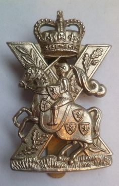 Fife and Forfar Yeomanry Cap Badge Scottish Horse Queens crown cap badge. British Army military World War Two badges and insignia to sell Military Cap, Military Units, Military Uniforms, Army Hat, Queen Crown, British Army, British History, Coat Of Arms, Volunteers