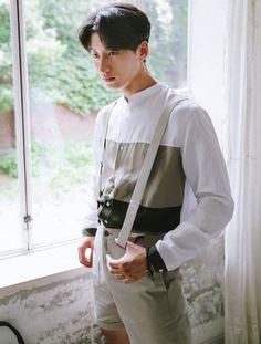 Linen Colorblock Stand Collar #AsianFashion #KoreanFashion #MensStyle #MensTops #SummerFashion --- $56.00