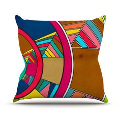 "Danny Ivan ""Lov Pattern"" Outdoor Throw Pillow"