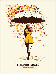 4-color screen print for the final show of The National's Trouble Will Find Me tour at London's O2 arena.