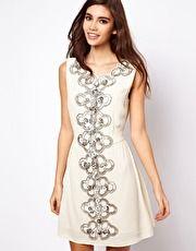 ASOS | ASOS 60s Embellished Shift Dress at ASOS