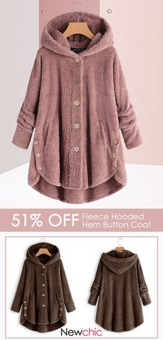 Fleece warm design, get ready for winter with this soft fleece coat from Newchic. A neutral color and cozy hood make it a versatile addition to your wardrobe. Save 51 when you shop now at Newchic. Look Fashion, Winter Fashion, Fashion Outfits, Womens Fashion, Jackets Fashion, 80s Fashion, Pretty Outfits, Winter Outfits, Cute Outfits