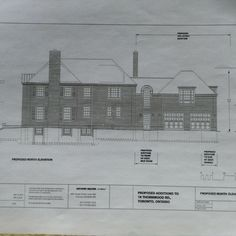 18 Thornwood Rd, Toronto, ON - Proposed North Elevation