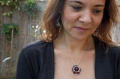 Nespresso capsules necklace, Nespresso jewelry, Eco friendly, light aluminium, Upcycled Nespresso Jewelry, recycled Jewelry, חגית