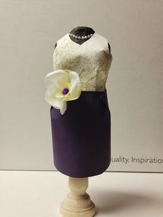 Artfully Balanced - Anne Marie H. paper dress project for Club Scrap Wisteria Blog Hop