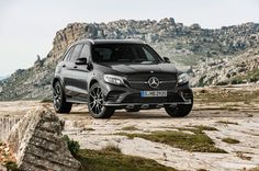 2017 Mercedes AMG GLC43. Visually, the 2017 Mercedes-AMG GLC43 gets an injection of AMG style, with new fascias boasting larger air intakes, quad exhausts, a chrome-trimmed rear diffuser, and a flat-bottom steering wheel.