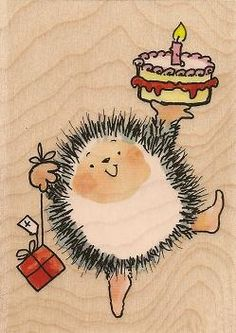 Penny Black Stamps - Love her hedgehogs - think they should be stitchery or needlepunch! Birthday Greeting Cards, Birthday Greetings, Birthday Wishes, Happy Birthday, Hedgehog Drawing, Hedgehog Art, Penny Black Cards, Penny Black Stamps, Hedgehog Illustration