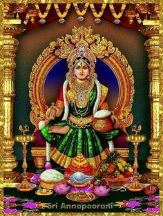 Annapurna Devi Indian Goddess, Mother Goddess, Goddess Lakshmi, Durga Images, Lakshmi Images, Krishna Images, Lord Murugan Wallpapers, Krishna Statue, Hare Krishna
