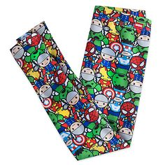 [Power dressing]Super hero stars from the Marvel universe combine to create the colorful print on these leggings. Stylized artwork of Thor,…