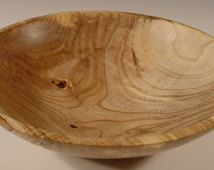 Sweet Gum Wood Bowl Hand Turned Wooden Bowl Art 5494
