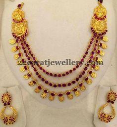 Lakshmi Mala in Rubies | Jewellery Designs