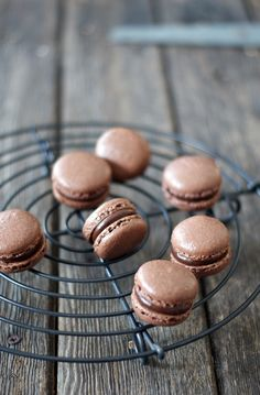 Finally success with chocolate macaron shells *dances around kitchen*  Last week just the thought of a chocolate shell was really ir...