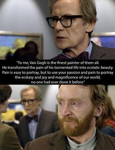 Doctor Who: When The Doctor transported Van Gogh to the present to see the impact his life made. | 16 TV Moments That Helped People Through Their Depression