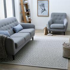 Akar Flat Woven Rug with Geometric Print La Redoute Interieurs   La Redoute Mobile