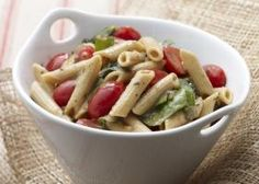 This colorful, whole-wheat pasta dish is accented with grape tomatoes and Swiss chard, and delicately flavored with basil and garlic for an oodles of noodle delight! Food Network Recipes, Cooking Recipes, Healthy Recipes, Healthy Meals, Easy Recipes, Healthy Food, Italian Dishes, Italian Recipes, Pasta Dinners