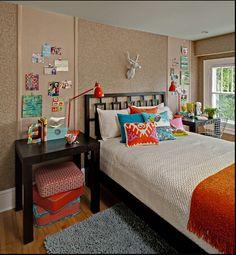 I love the cork walls, deer head, cushions, EVERYTHING!