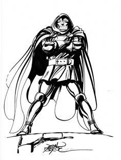 Doctor Doom by John Byrne 1982 Marvel Comic Universe, Comics Universe, Marvel Dc, Marvel Comics, Comic Book Artists, Comic Artist, Comic Books Art, Doctor Doom, Fantastic Four Marvel