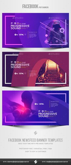 Electronic Music Party vol.37 - Facebook Post Banner Templates - Social Media Web Elements