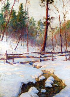 The Athenaeum - Brook and Fence (Walter Launt Palmer - )