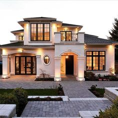 60 Most Popular Modern Dream House Exterior Design Ideas - Traumhaus Dream Home Design, Modern House Design, Modern Houses, Modern Exterior House Designs, Style At Home, Design Exterior, Rustic Exterior, Exterior Paint, Luxury Homes Dream Houses