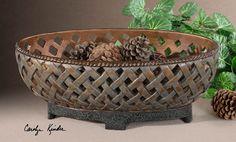 Uttermost Teneh Lattice Weave Design Bowl 19539
