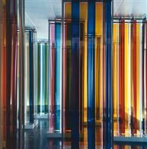 """Transchromie (from the exhibition """"Cruz-Diez. Cinq propositions sur la couleur""""), Carlos Cruz-Diez"""