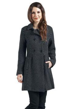 Cappotto donna Sweet Winter Coat di #ViveMaria a pois con 2 tasche laterali e fodera a fiori 100% poliestere. lu.: 90 cm circa.