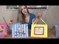 Canvas Project:  How to make and design the Canvas Project from DIYGreek.com #sorority #idea