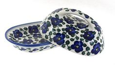 Polish Pottery Violets Butter Dish ^^ Additional info @ : bakeware