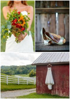 inspiration for your rustic wedding including #bridalbouquet #weddingshoes #barnvenue http://www.weddingchicks.com/2014/03/14/lovely-kentucky-wedding/