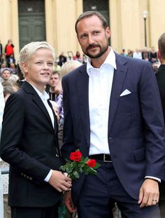 10th Wedding Anniversary for Crown Prince Haakon and Crown Princess Mette-Marit of Norway at the University of Oslo. (In This Photo: Prince Haakon, Marius Borg Hoiby)