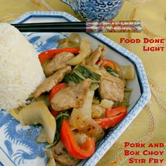 Quick weeknight meal idea - Pork and Bok Choy Stir Fry www.fooddonelight.com