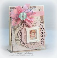 Shabby Chic Card-Any Occasion Card- Make Today Beautiful